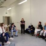 Rosita explains to participants what simulation-specs are