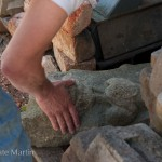 Using touch to explore texture before photographing