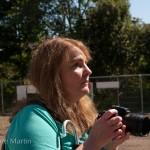 Rosita documenting the day