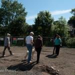 Rosita's afternoon participants explore the grounds of Edinburgh Sculpture Workshop