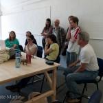 End of day slideshow session/visual description of participants work!