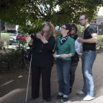 Rosita, me and David describing and translating Rosita's techniques. Photo: Sabrina Mikolojewski