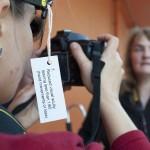 One of the participants using the Simulation Specs to take a photo of Rosita. Photo: Sabrina Mikolojewski