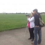 David assisting Rosita atTempelhof Feld 1