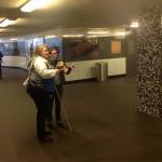 Me describing U-Bahn Bayerischer Platz to Rosita