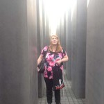 Rosita inside the Holocaust Memorial